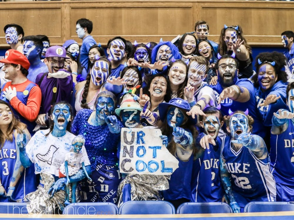 The Cameron Crazies tented for five weeks to get into the Duke-North Carolina game this year.