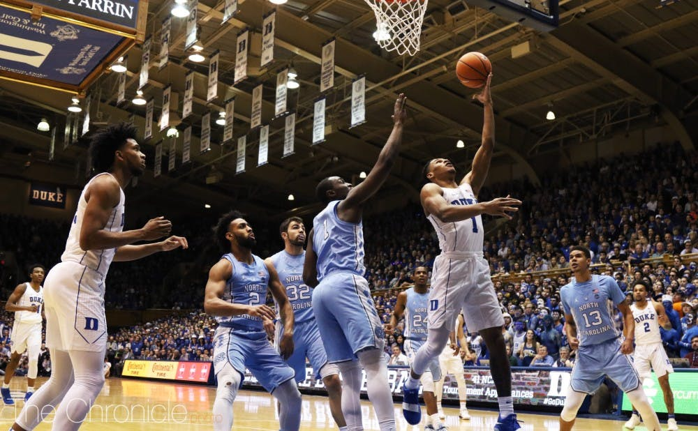 <p>After being relegated to the bench, Trevon Duval has made the most of his new role and dished out six assists in the second half of Duke's comeback win Saturday.</p>