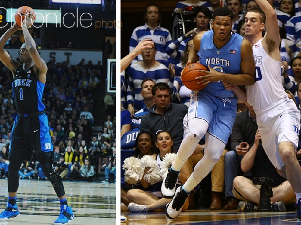 Harry Giles does not have nearly as much collegiate experience as North Carolina's Kennedy Meeks but might need to hold his own against Meeks inside for Duke Thursday.