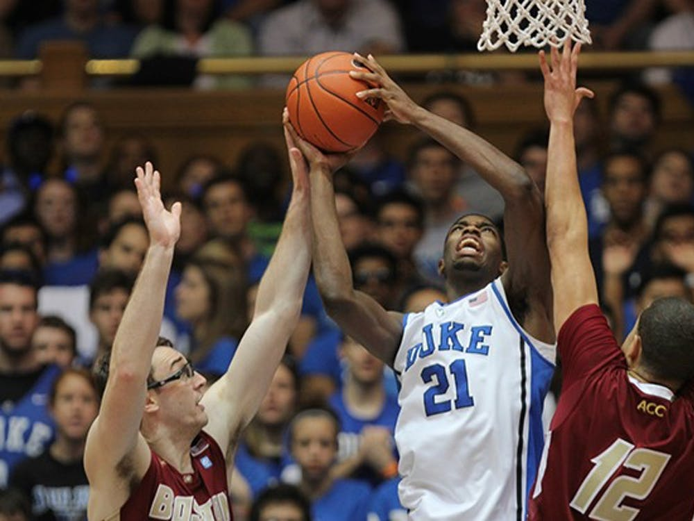 The No. 5 Duke men's basketball team defeated Boston College 89-68, led by a career-high 27 points from freshman guard Rasheed Sulaimon.
