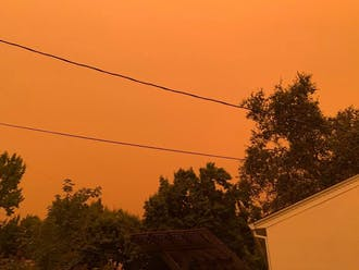 An orange sky over Chico, Calif., Sept 9.