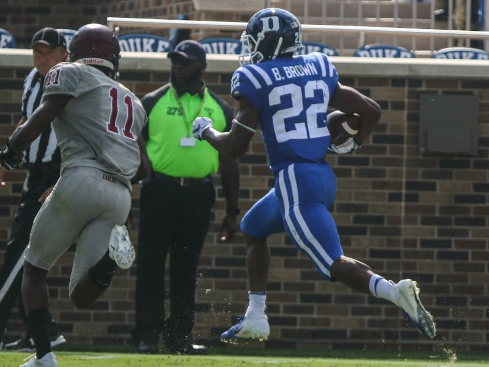 Brittain Brown raced to two touchdowns on Saturday.