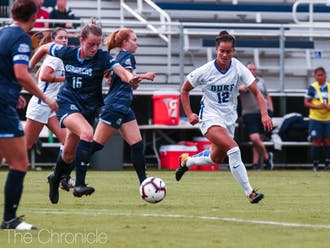 Kayla McCoy put the Blue Devils on the board early with a score in the opening minutes.