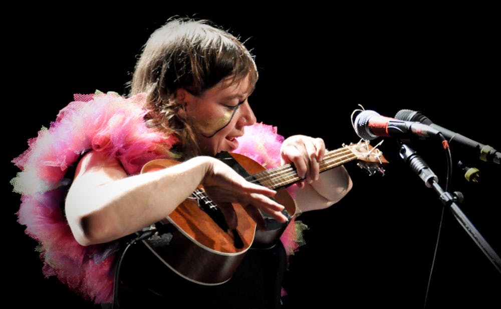 Merrill Garbus of Tune-Yards performs in 2011. The artist's fourth album was released Friday.