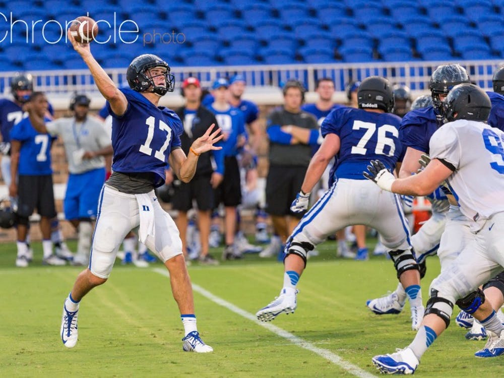 Redshirt freshman quarterback Daniel Jones will make his first career start Saturday evening against an FCS opponent.