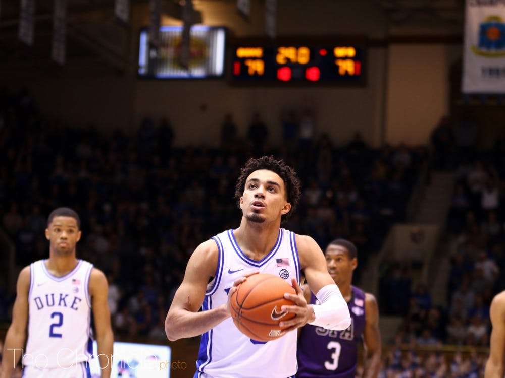 Duke loses to the Lumberjacks in Cameron Indoor in a shocking upset on November 26, 2019. Stephen F. Austin won on a buzzer beating layup in overtime and finished with a final score of 85-83. Duke will next take on Winthrop at home on November 29, 2019. Photos from the game were taken by Eric Wei and Erin Blanding.