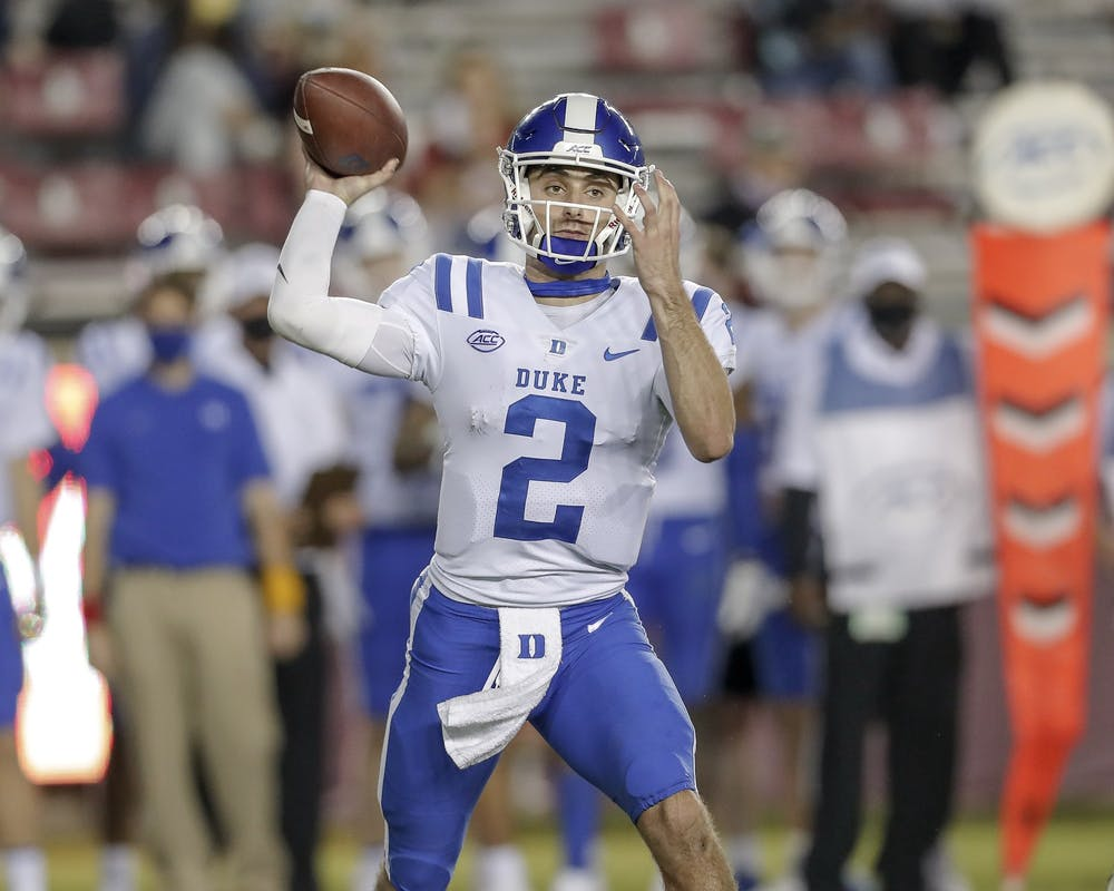 True freshman quarterback Luca Diamont made his first career appearance following Chase Brice's injury in the third quarter.