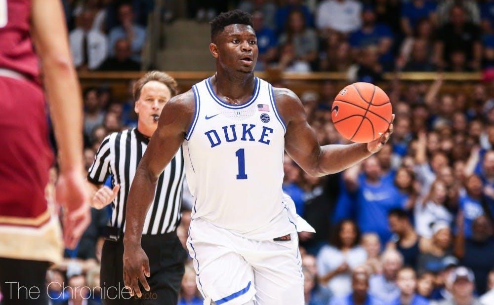Duke men's basketball product Zion