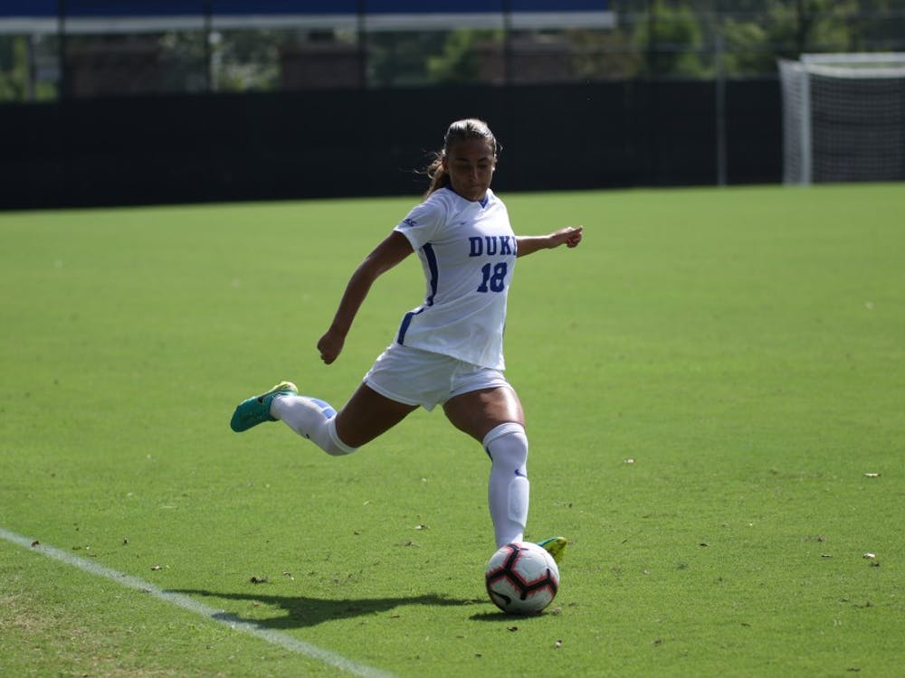 Paschall converted on a pair of penalty kicks for Duke Thursday.