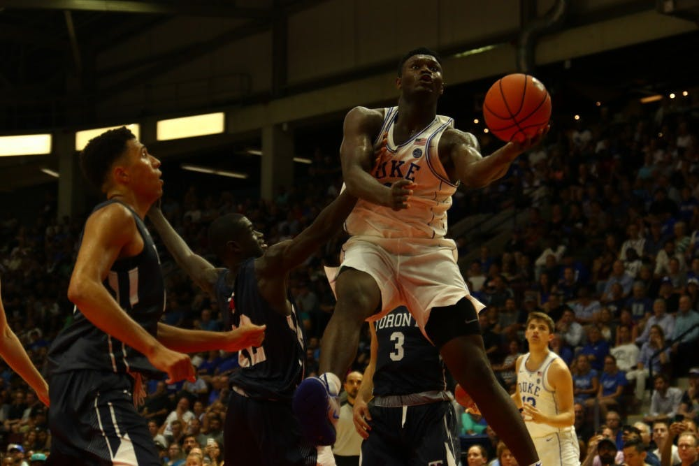 <p>The extreme hype of Zion Williamson's commitment to Duke may be matched by the excitement Blue Devil fans feel for the possibility of Bronny James coming to Durham.</p>
