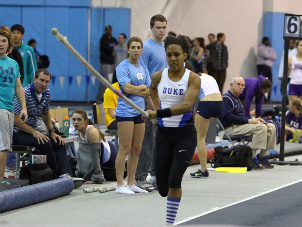 Megan Clarkhopes to match the NCAA record in the pole vault in the coming weeks.
