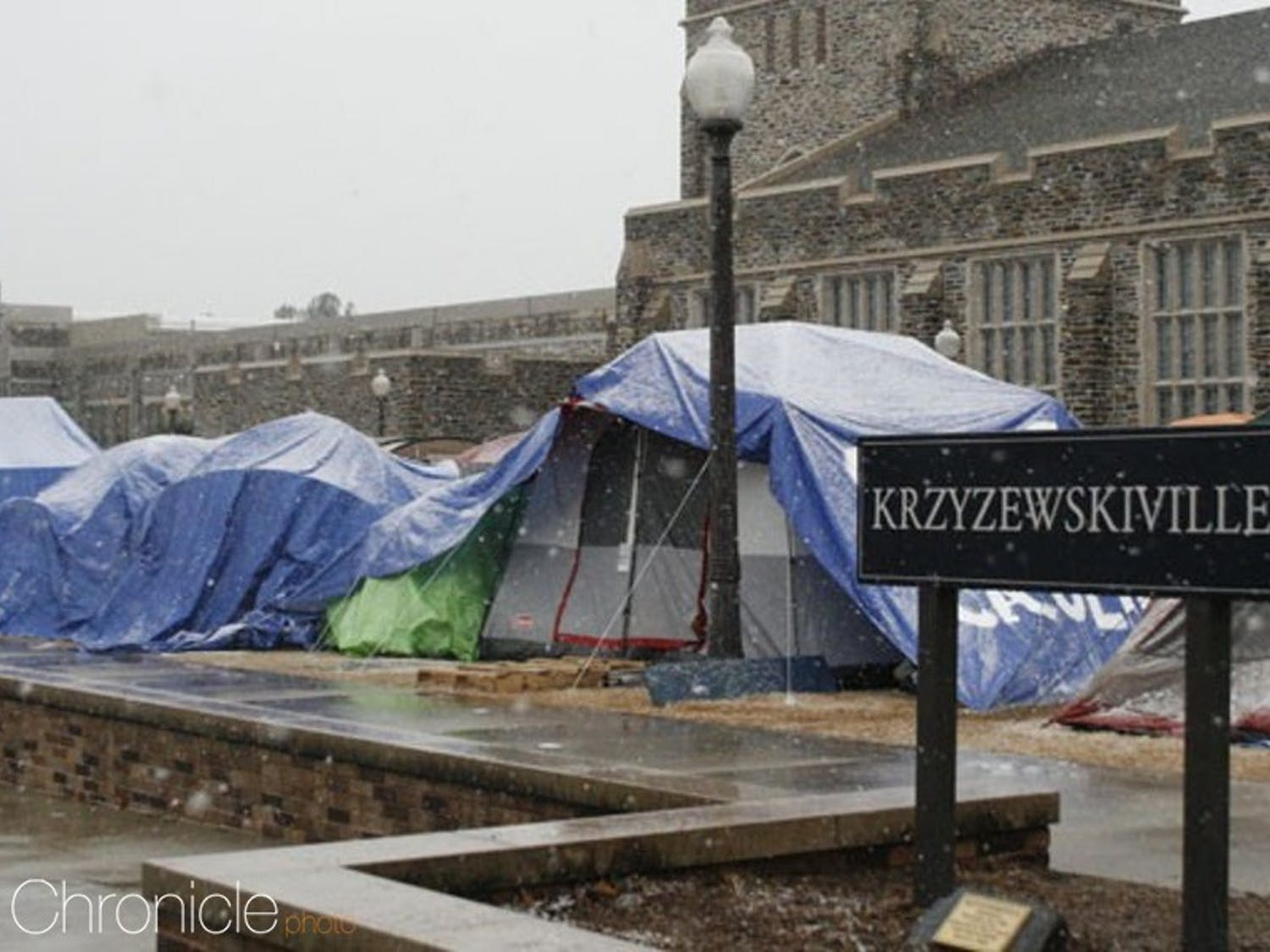 Duke students will move into Krzyzewskiville Saturday for the start of black tenting.