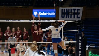 Sophomore middle blocker Georgia Stavrinides recorded 13 kills over the weekend.