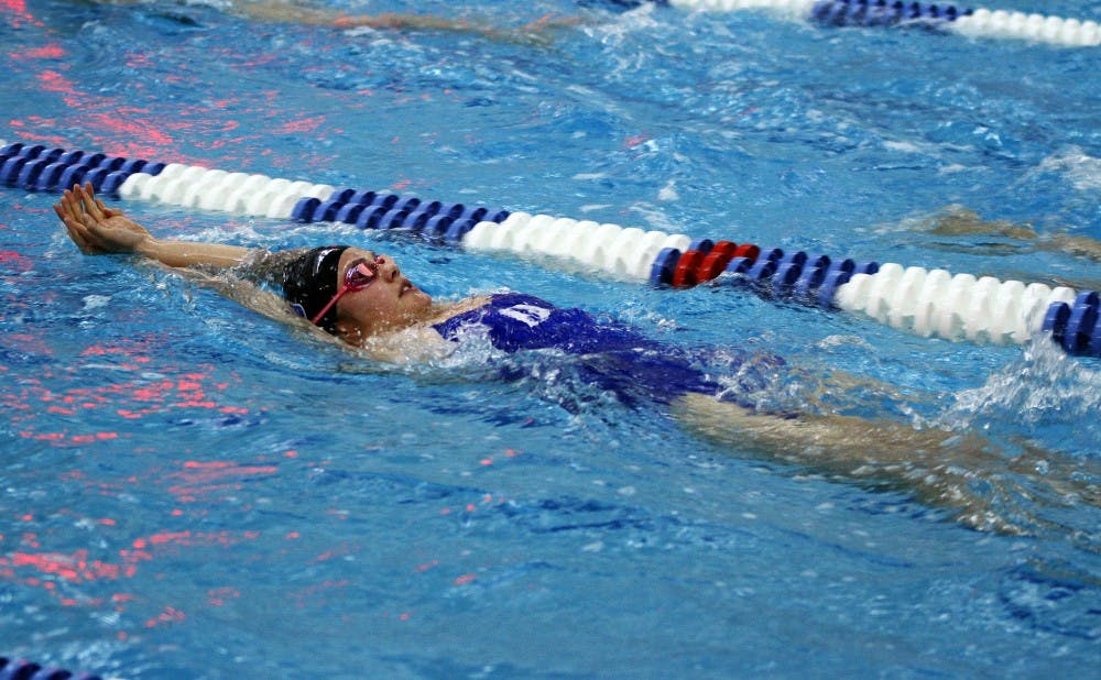 <p>The pool records continued to fall for the Blue Devils this weekend as Duke took down William & Mary and Old Dominion Saturday at Taishoff Aquatic Pavilion.</p>