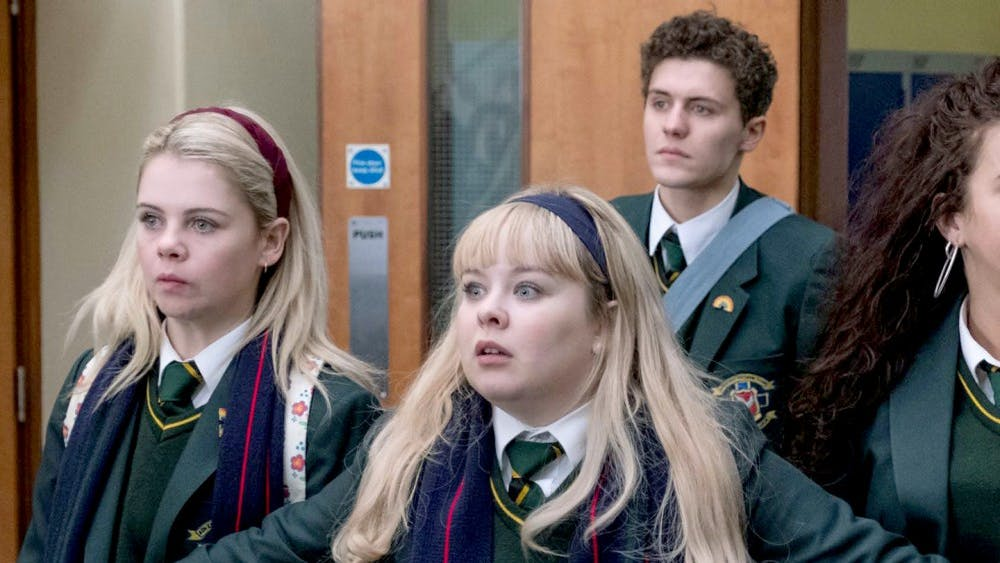 """""""Derry Girls,"""" which premiered in Jan. 2019, portrays the teenage experience with war-torn North Ireland as its backdrop."""