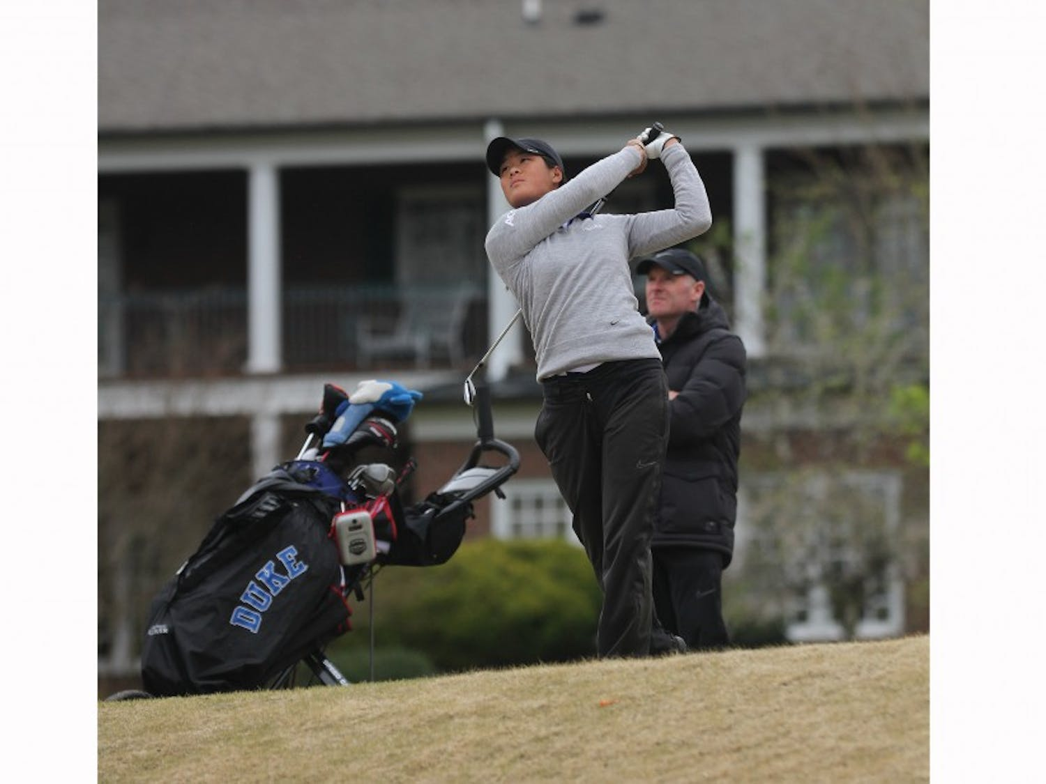 Junior Celine Boutier led the Blue Devils to a confidence-building, third-place finish at the Liz Murphey Collegiate Classic this weekend.