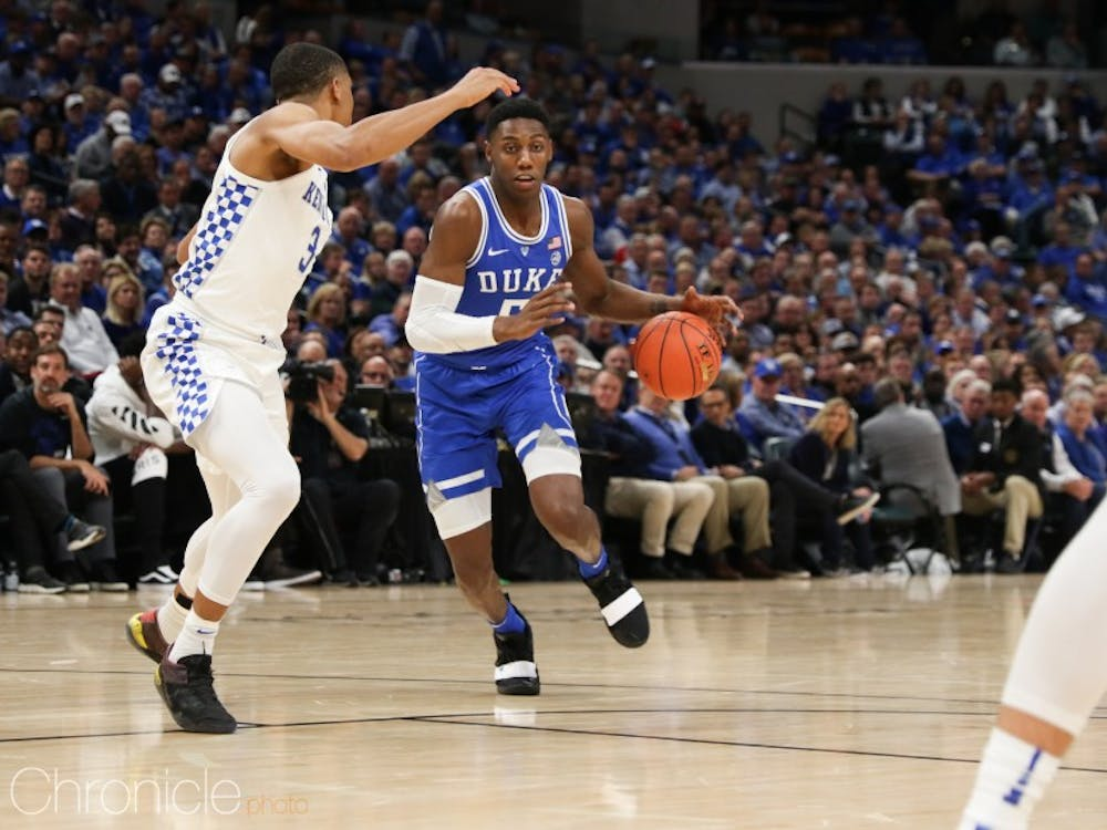 R.J. Barrett will look to build off a 33-point performance in Duke's home opener Sunday.