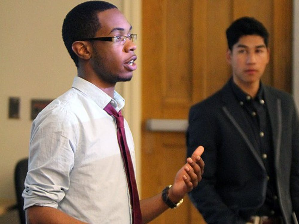 Sophomore Tre'Ellis Scott, vice president for services, talks about a potential new program called Ivy, which would act like a student-to-student PayPal.