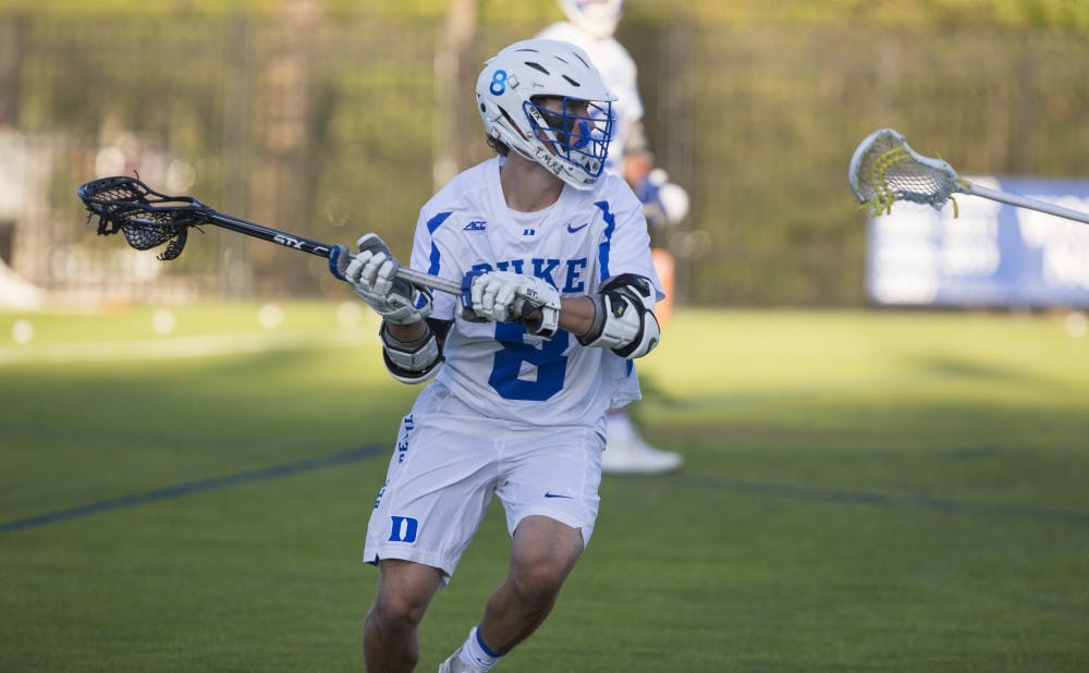 <p>Joe Robertson scored the game winner to send the Blue Devils to the Final Four, finally knocking off a Notre Dame squad that has caused them headaches throughout the season.</p>
