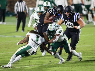 Running back Mataeo Durant aims to recreate his performance against Charlotte in 2020 in which he averaged over eight yards per carry.