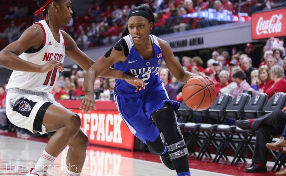 <p>Mikayla Boykin missed most of the 2017-18 season due to a torn left ACL.</p>
