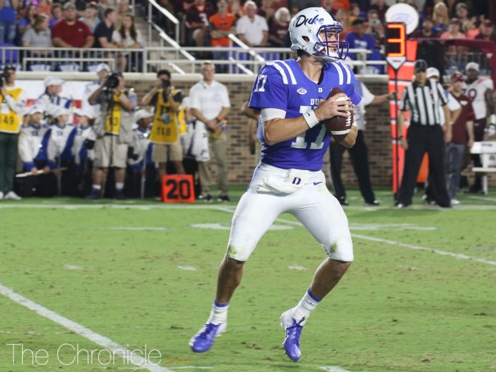 Daniel Jones will need to be on his A game Saturday against a prolific Georgia Tech offense that has scored 129 points in its last two contests.