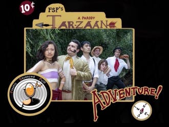 "One of FSP's series chronicles the adventures of ""Tar-Zaan,"" which parodies Edgar Rice Burroughs' original ""Tarzan."""