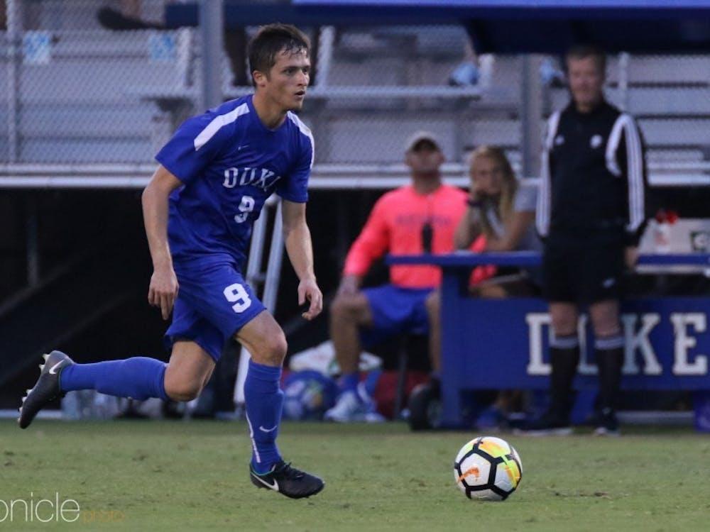 Daniele Proch scored the game-winning goal for Duke Friday.