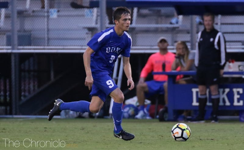 Daniele Proch scored the game-winning goal for Duke Friday.