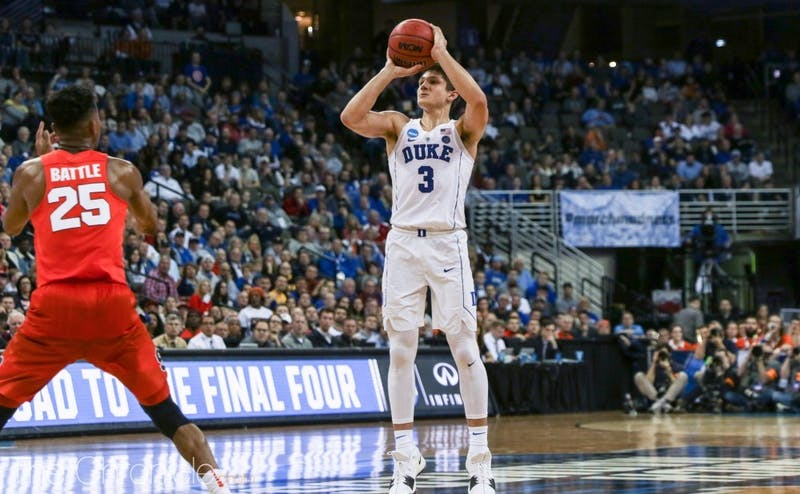 Grayson Allen shot just 3-of-14 from long distance in Duke's win.