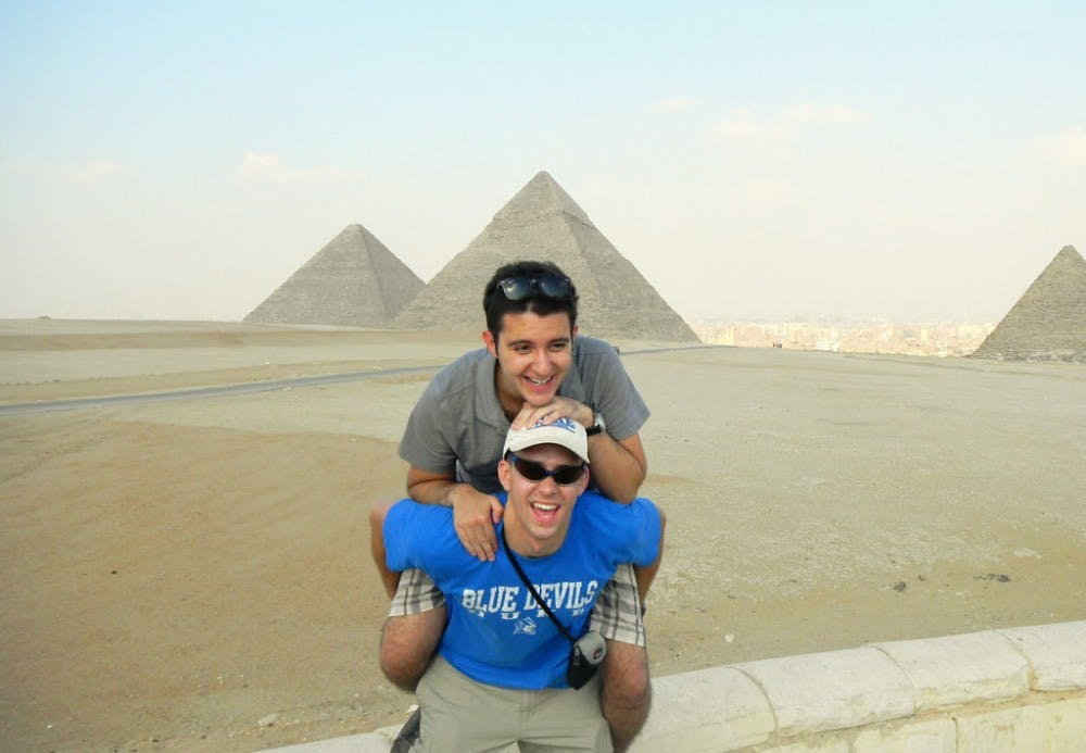 Juniors Zac Pearlstein and Lek Badivuku, who decided to study abroad in Egypt because of the political atmosphere, have witnessed the current upheaval while taking classes at the American University in Cairo.