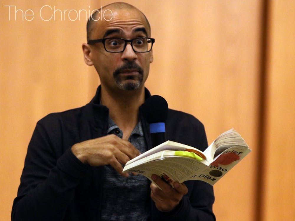 Junot Díaz came to Duke's campus on Monday night for a reading and Q&A.