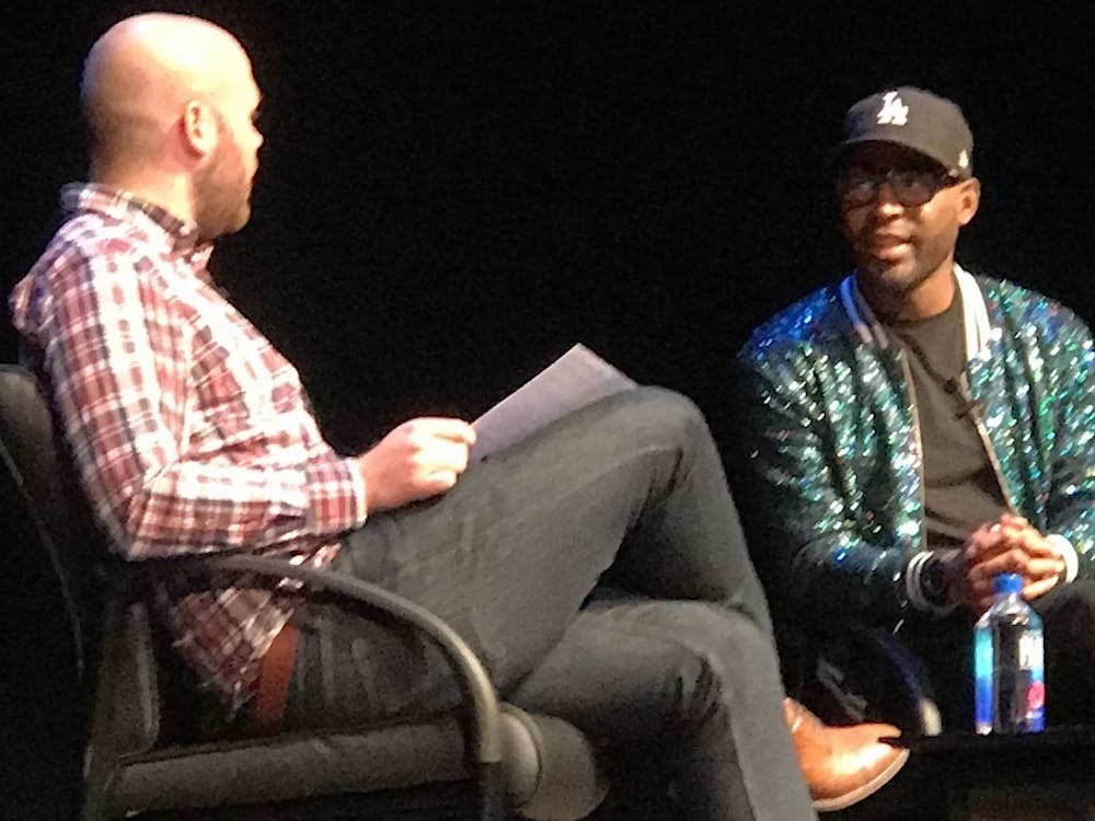"""Queer Eye"" culture expert Karamo Brown gave a talk at Page Auditorium Monday night."