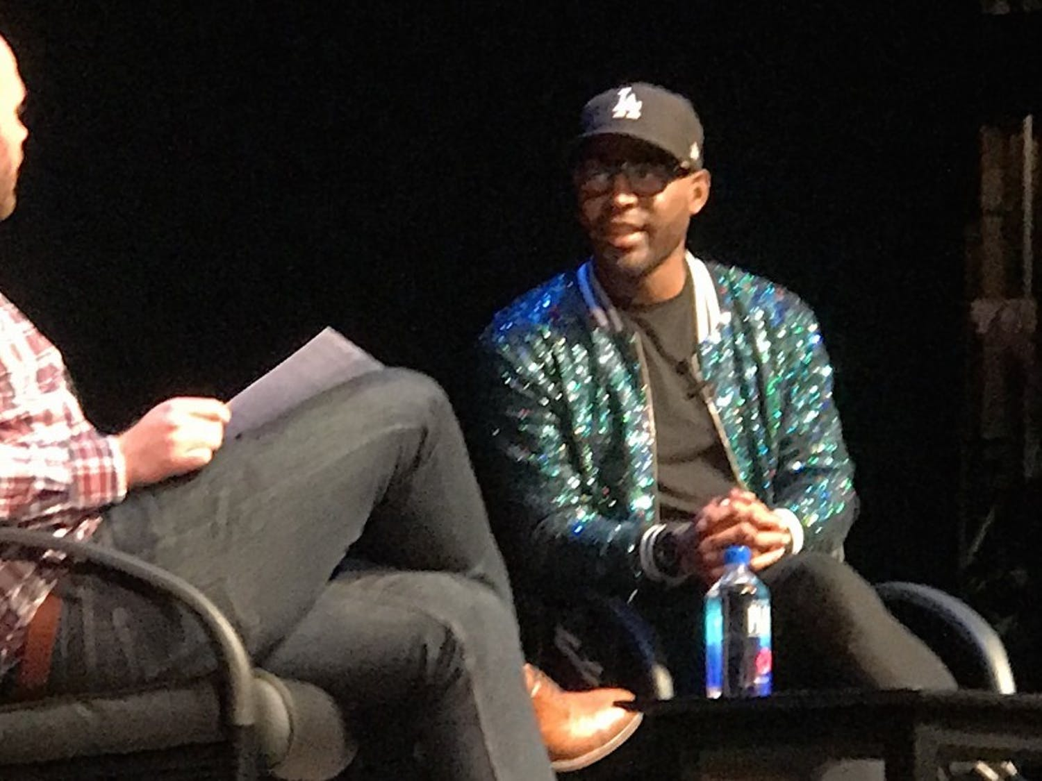 """""""Queer Eye"""" culture expert Karamo Brown gave a talk at Page Auditorium Monday night."""