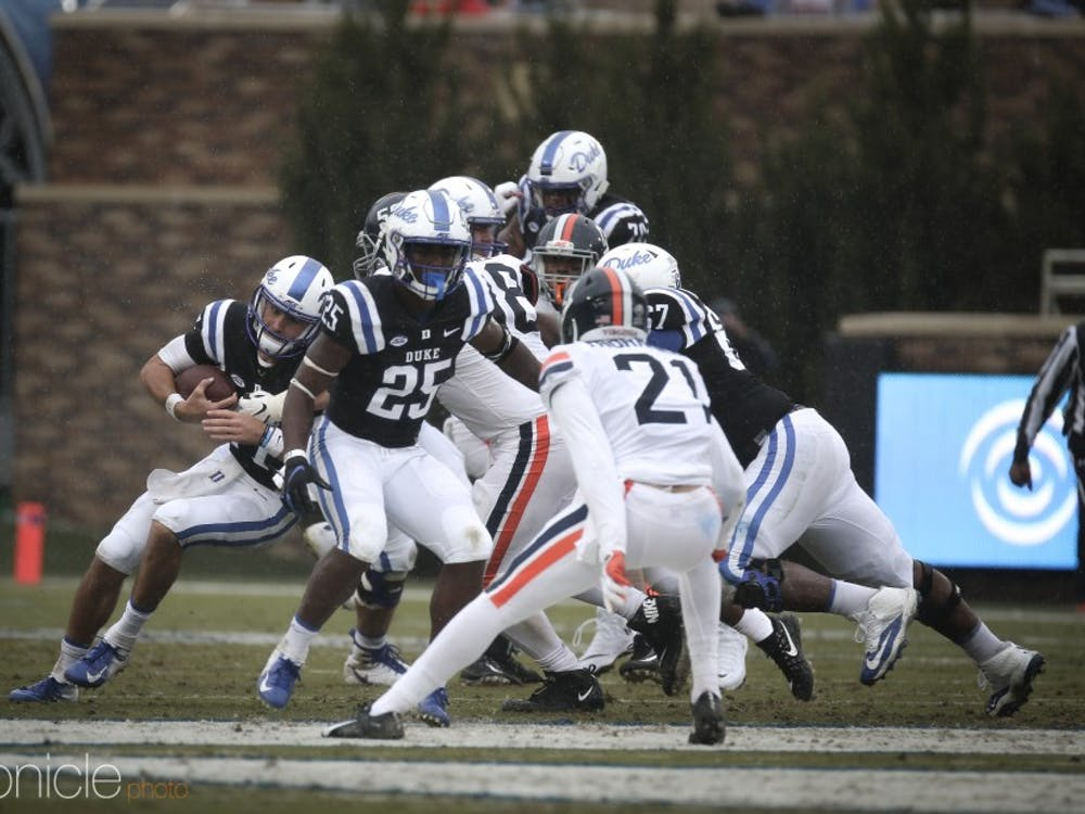 Although Daniel Jones logged 240 passing yards, he was inefficient and unable to help the Blue Devils find any sort of offense rhythm.
