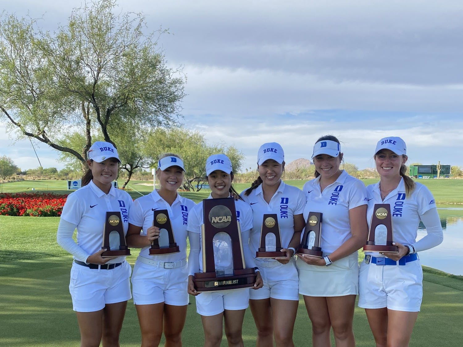 The Blue Devils reached the match play semifinals for the second straight year.