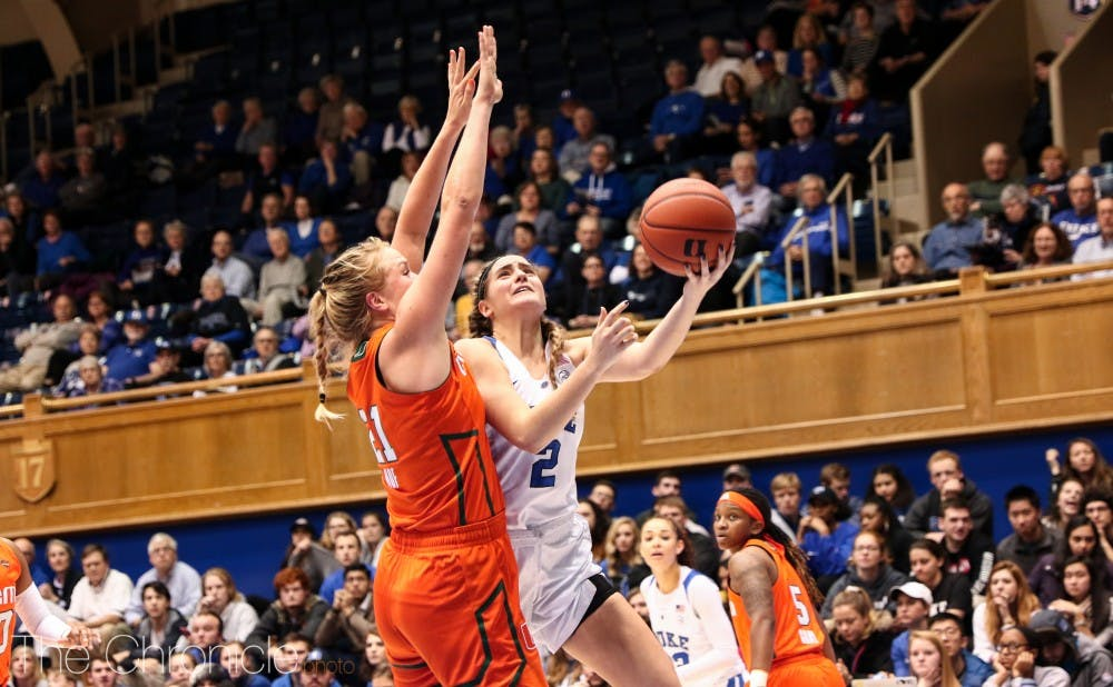 <p>Duke struggled against Miami's size on the interior Thursday.</p>