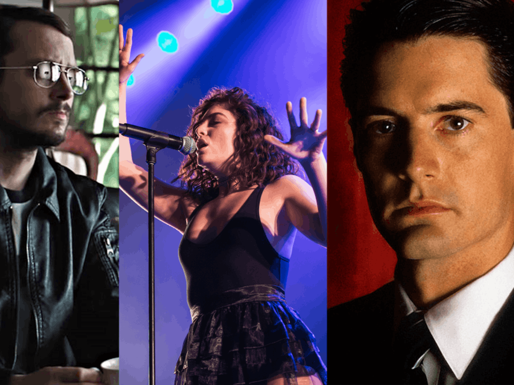 """Pictured from left to right, Elijah Wood in """"I Don't Feel at Home in This World Anymore,"""" Lorde performing in July and Kyle MacLachlan as Agent Dale Cooper in the original run of """"Twin Peaks."""""""