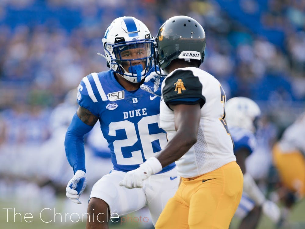 Pictured is Duke's Michael Carter II. Look for North Carolina's Michael Carter Jr., No. 8, when the rivals face off Saturday.