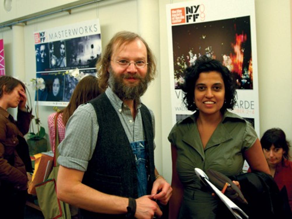 David Gatten (left) and Shambhavi Kaul (right) both premiered new short films over the weekend at the New York Film Festival's Views From the Avant-Garde section of programming. Both are Duke faculty members.