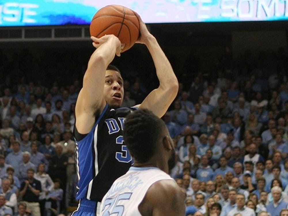 The No. 3 Duke men's basketball team defeated UNC 69-53 in their final game of the regular season. Seniors Mason Plumlee and Seth Curry led the Blue Devils with 23 and 20 points, respectively.