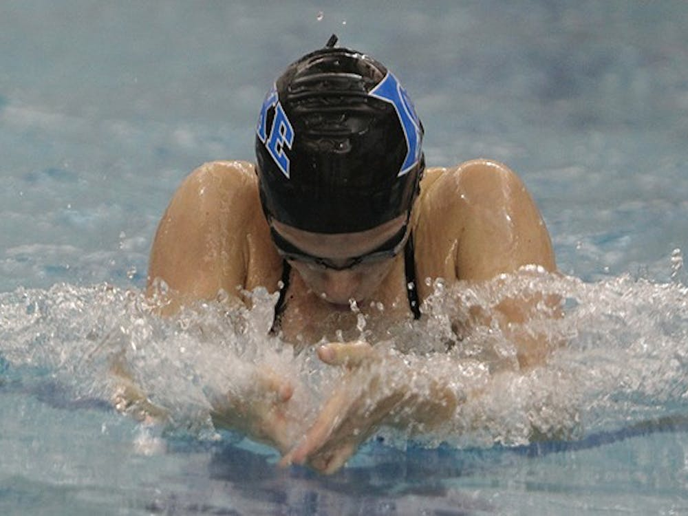 Christine Wixted won the 100-yard and 200-yard breaststroke in addition to the 100-yard freestyle.