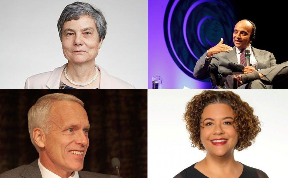 <p>Clockwise from top left: Caroline Series, K. Anthony Appiah, Elizabeth Alexander, Brian Kobilka</p>