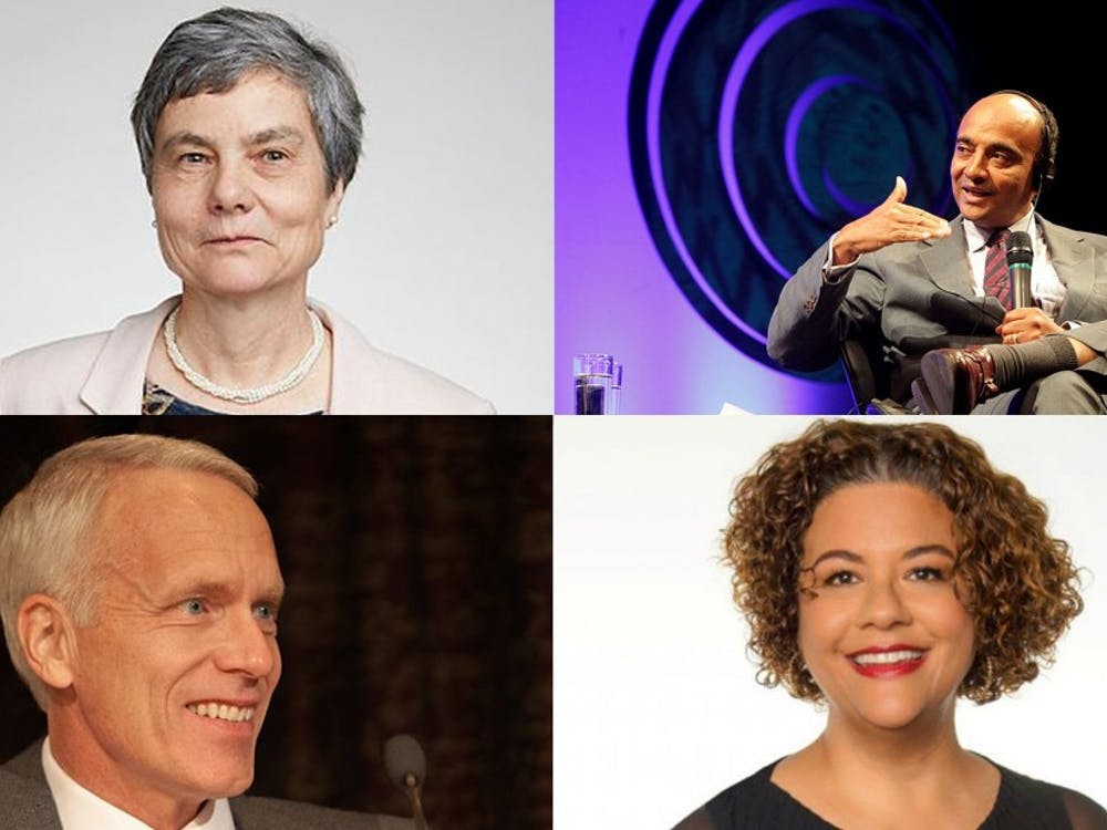 Clockwise from top left: Caroline Series, K. Anthony Appiah, Elizabeth Alexander, Brian Kobilka