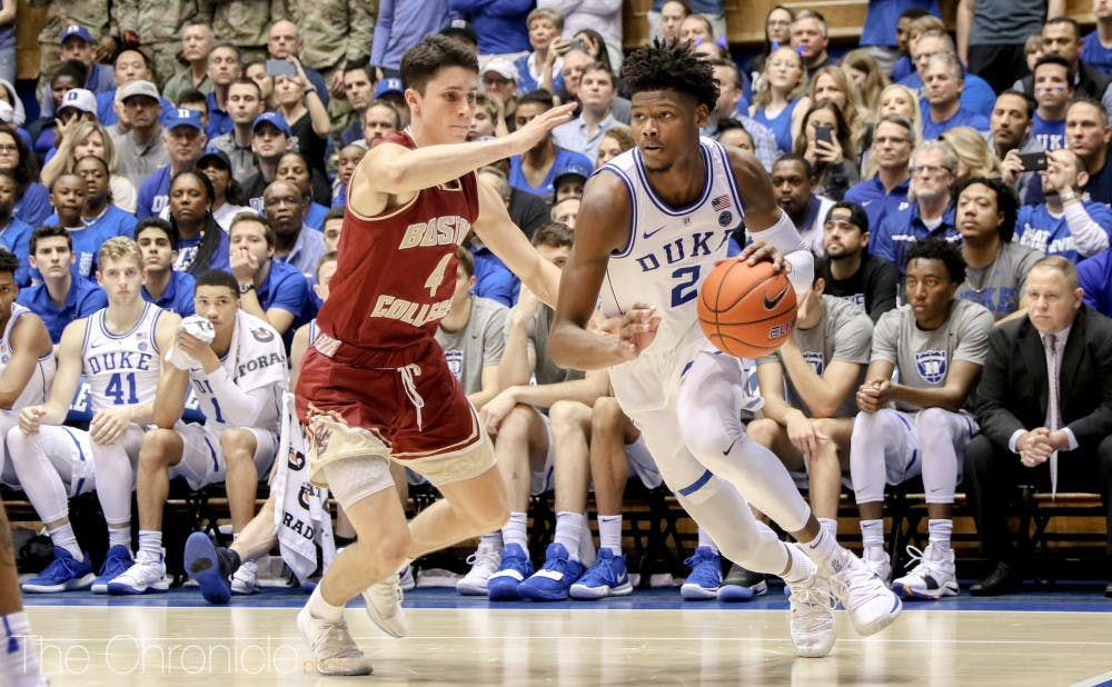 e7659255ba97f Cam Reddish misses Duke's men's basketball's Sweet 16 matchup ...