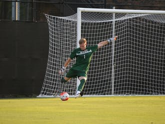 Graduate student Wilson Fisher is one of three options head coach John Kerr is considering to start at keeper to improve upon a defense that allowed a league-worst 34 goals last year.
