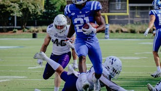 Mataeo Durant scored Duke's first two touchdowns Saturday.
