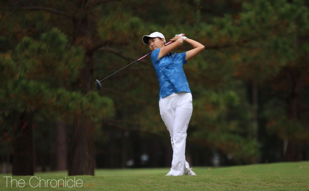 <p>Miranda Wang had the best tournament of her career, shooting 10-under-par in her final 48 holes to finish in a tie for fifth.</p>