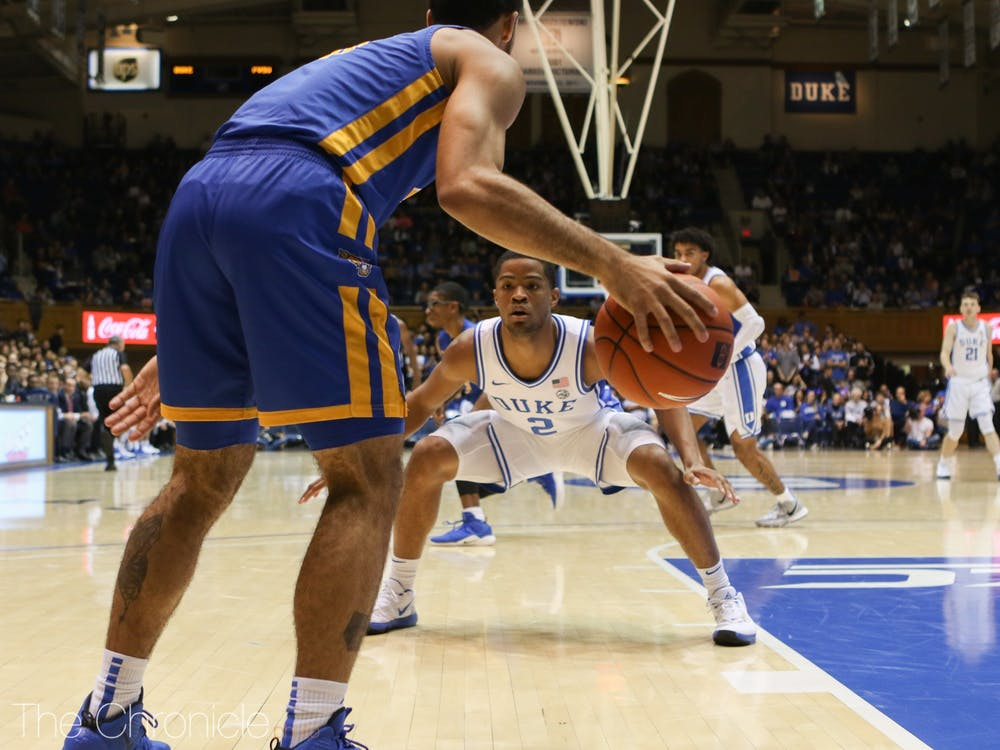 <p>Cassius Stanley and the Blue Devils' defense forced 36 turnovers, including 24 steals.&nbsp;</p>