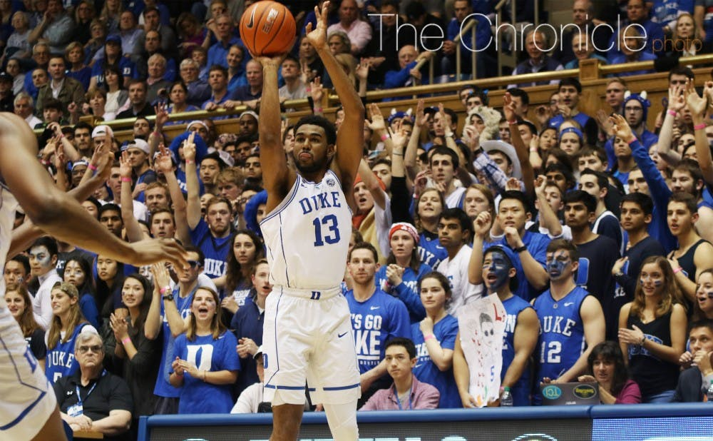 <p>Matt Jones made three 3-pointers during Duke's 20-0 second-half run that turned a double-digit deficit into a double-digit lead.</p>